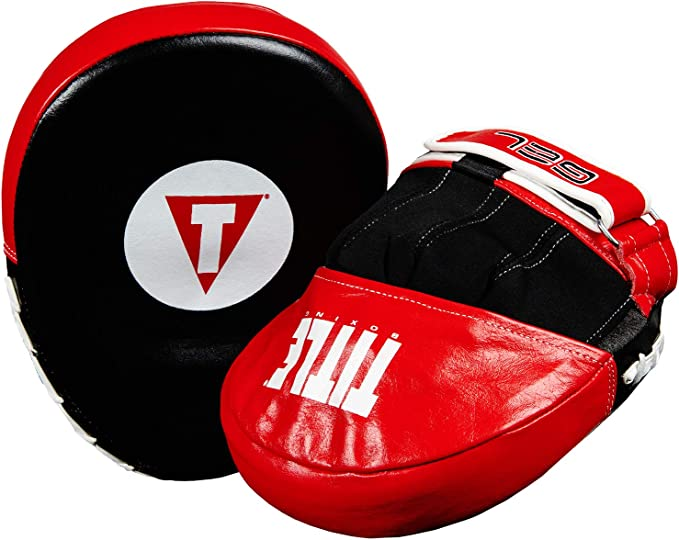 Title Boxing Gel Vortex Micro Contoured Punch Mitts Black//Red