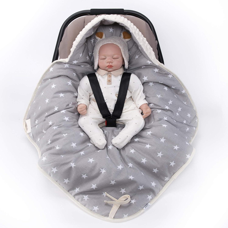 Sevira Kids/Universal Multi-Purpose Cosy/Reversible/Enveloping Minky Cover for Car Seat