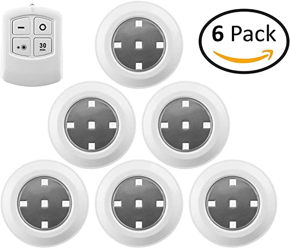 LUXPRO LP172 Waterproof Micro LED Puck Lights Pack of 5