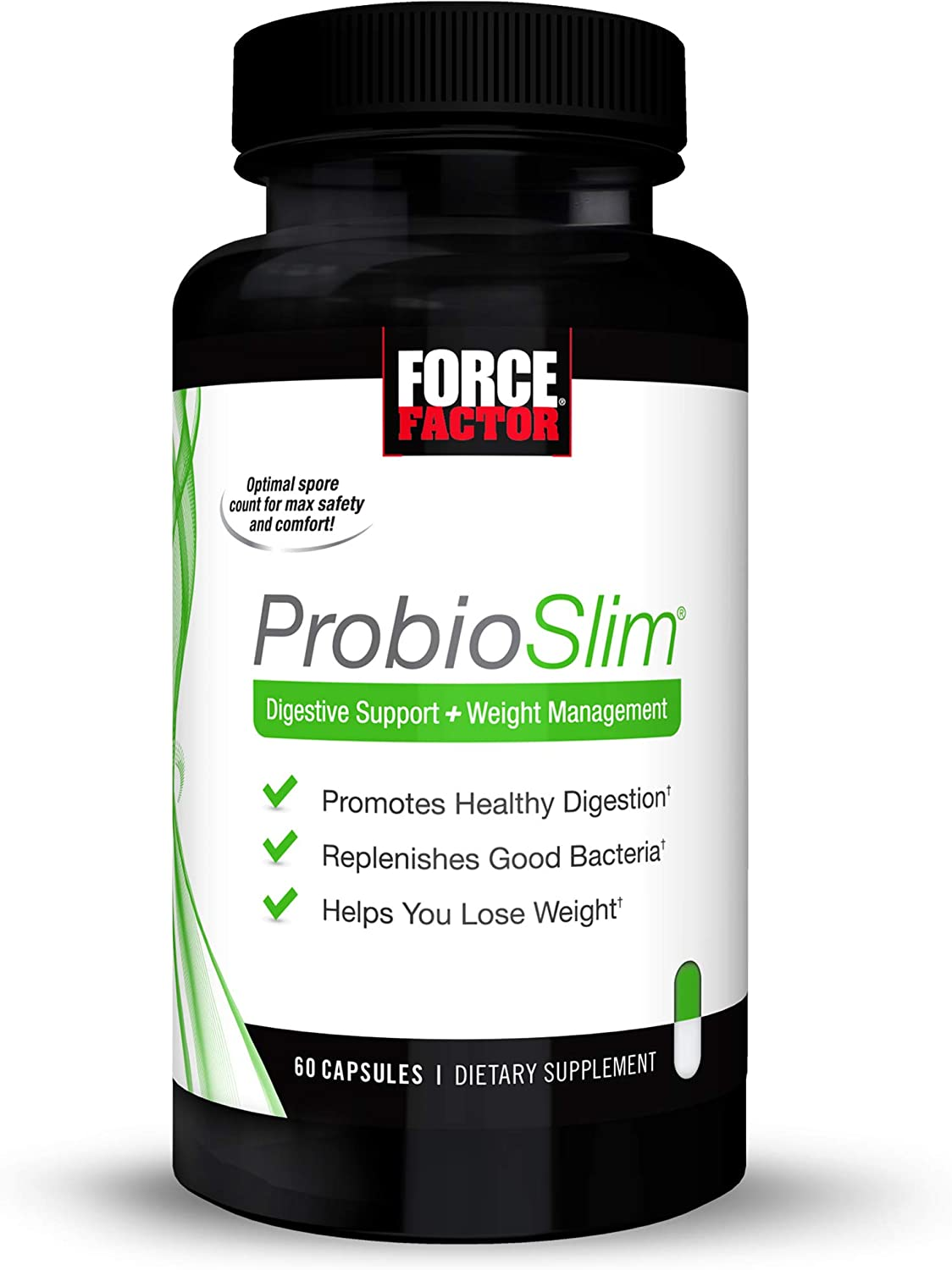 Probioslim Probiotic And Weight Loss Supplement For Women And Men With Probiotics Burn Fat Lose Weight Reduce Gas Bloating Constipation And Support Digestive Health Force Factor 60 Capsules Health Personal