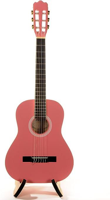 ASHTON SPC34PK - Guitarra clásica (tamaño 3/4), color rosa: Amazon ...
