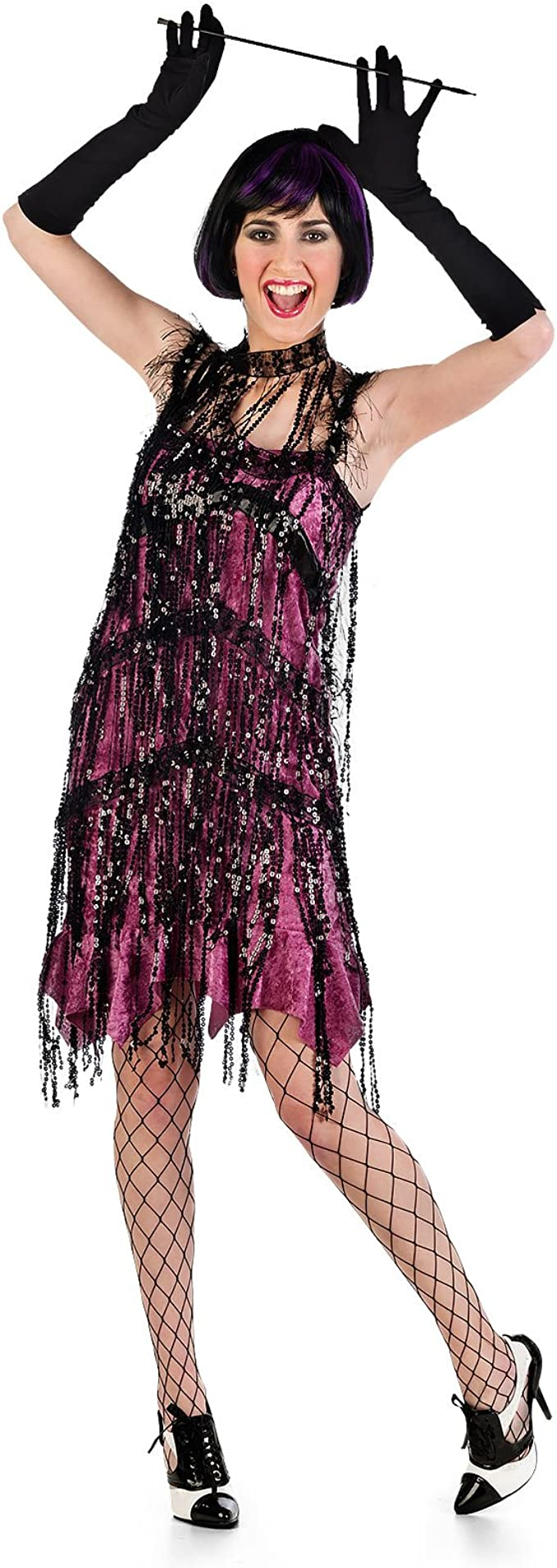 Vestido de Charleston rosa disfraz de señora de los años 20 para ...