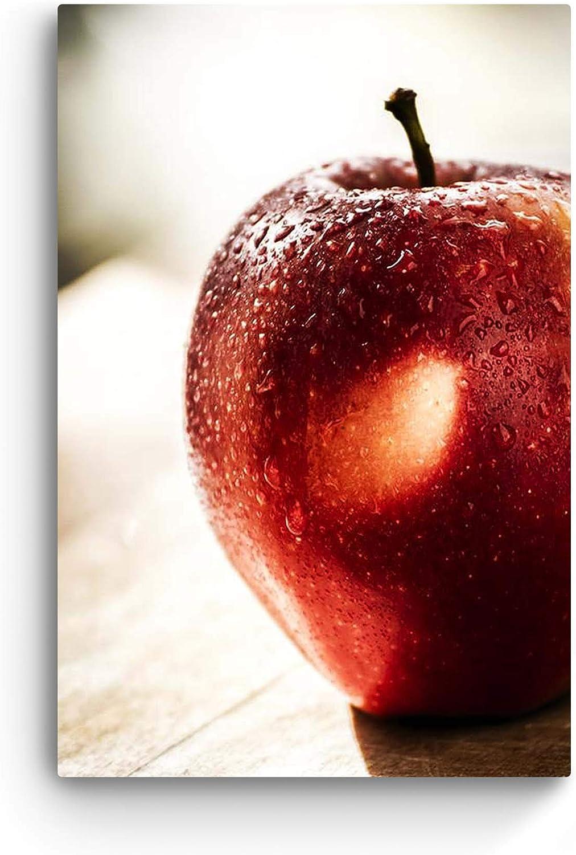 Glass Wall Art Acrylic Decor Red Apple, Startonight 23.62 X 35.43 Inch