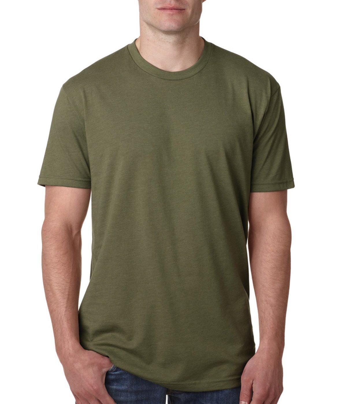 Next Level Apparel メンズ CVC クルーネック ジャージ Tシャツ B07D5JFNLC X-Large|Charcoal + Military Green (2 Shirts) Charcoal + Military Green (2 Shirts) X-Large