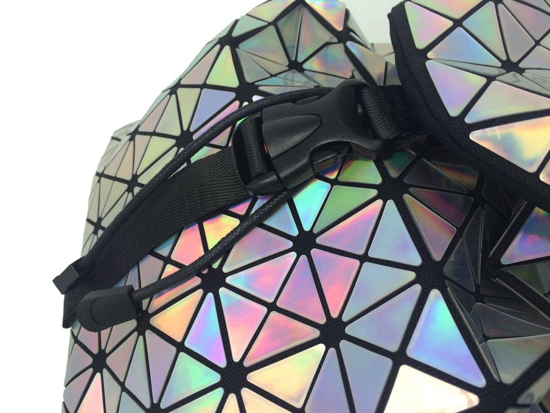 DIOMO Geometric Lingge Laser Women Backpack Travel Shoulder Bag(Laser) by DIOMO (Image #4)