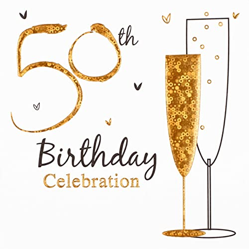 50th birthday party invitations pack of 20 with envelopes creative birthday party invitations pack of 6 50th birthday filmwisefo Images