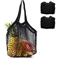 2-Pack Coofig Eco-Friendly Cotton Net Long Handle Shopping Bag