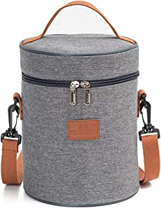 Insulated Lunch Bag, Thermal Cooler Lunch Tote Bag, Portable Lunchbox Reusable Food Bag for Women Men Kids Picnic, Travel, Hiking (B-8015) …