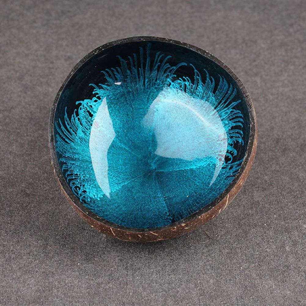 Ciotola decorativa Taglia libera Blue splash-ink Style noce di cocco naturale ciotola casa decorare