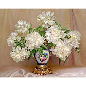 Slylive dream hand painted oil paintings white flower vintage vase slylive dream hand painted oil paintings white flower vintage vase diy paint by mightylinksfo