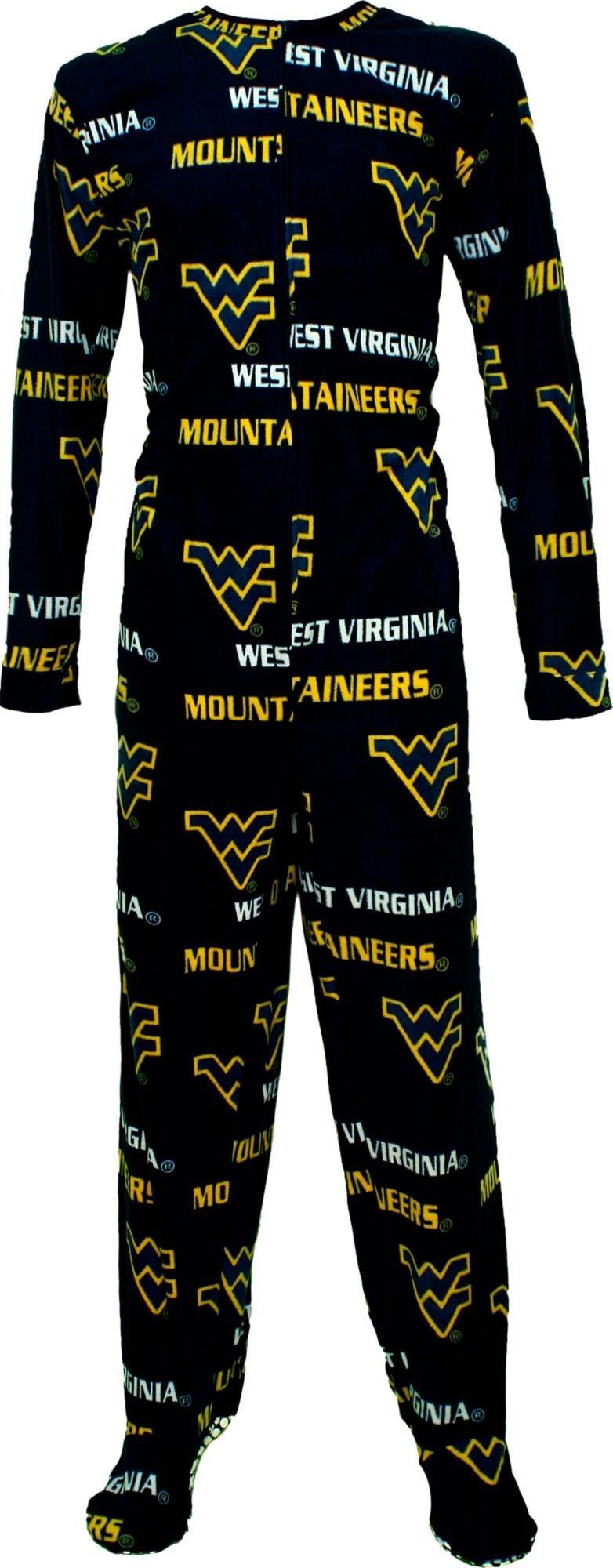 Concepts Sport Men's West Virginia Mountaineers Blue Union Suit (M)
