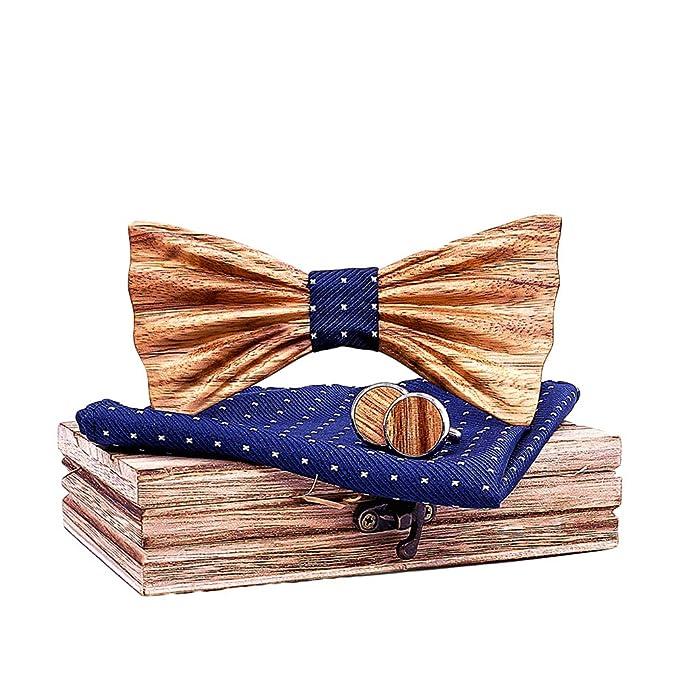 Lvguang Corbata de Lazo de Madera para Hombres Elegante Estilo ...