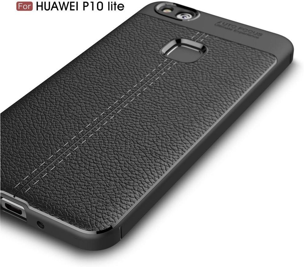 Custodia Sottile e Morbida Protettiva in Litchi Texture Silicone TPU per Huawei Mate 10 Pro MHHQ Huawei Mate 10 Pro Custodia Huawei Mate 10 Pro Cover Navy