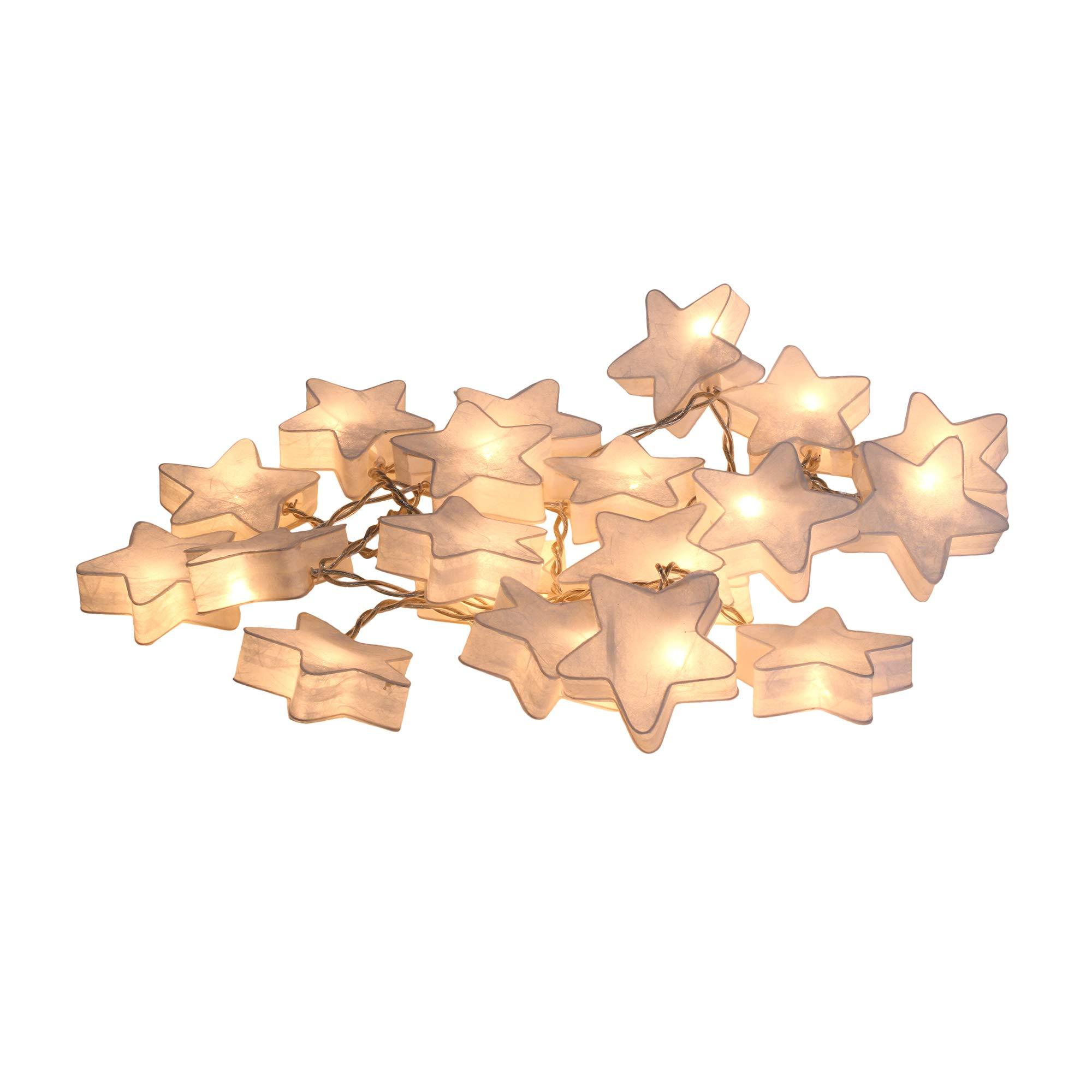 CHAINUPON Star Moon Fancy Lantern String Fairy Night Lights Kid Bedroom Home Children Decor (White Star)