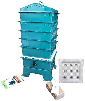 VermiHut con 5 bandejas Worm Compost Bin