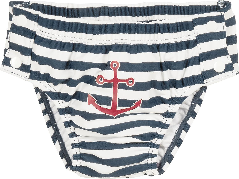 Playshoes Baby-Jungen Schwimmwindel Uv-Schutz Windelhose Maritim Zum Knöpfen 460109