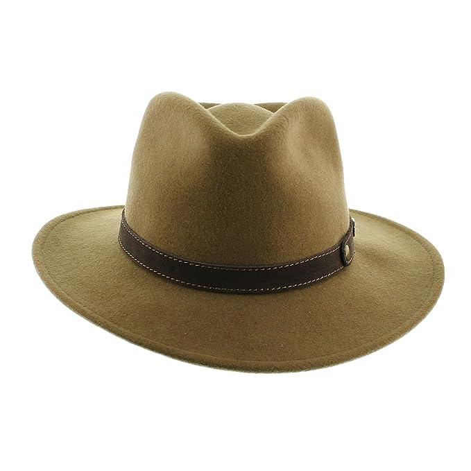 Votrechapeau – Sombrero fedora – fieltro plegable e impermeable – pétrus   Amazon.es  Ropa y accesorios 2a8d538cd4cc