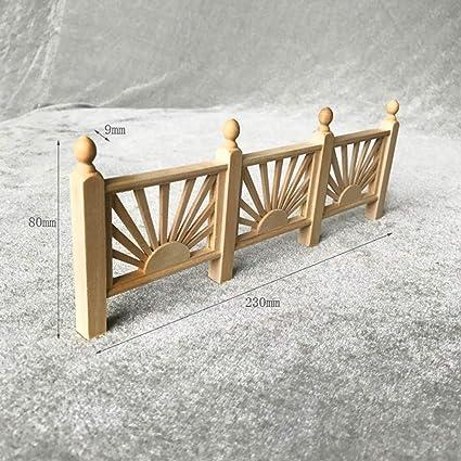 SXFSE Dollhouse Decoration Accessories,Miniature/Fence Handrail 1:12 Mini Dollhouse/Fence Cute House Mini/Fence
