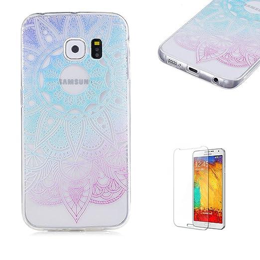 9 opinioni per Cover Per Samsung Galaxy S6 Edge,Funyye Graduale Cambiano Colore Trasparente