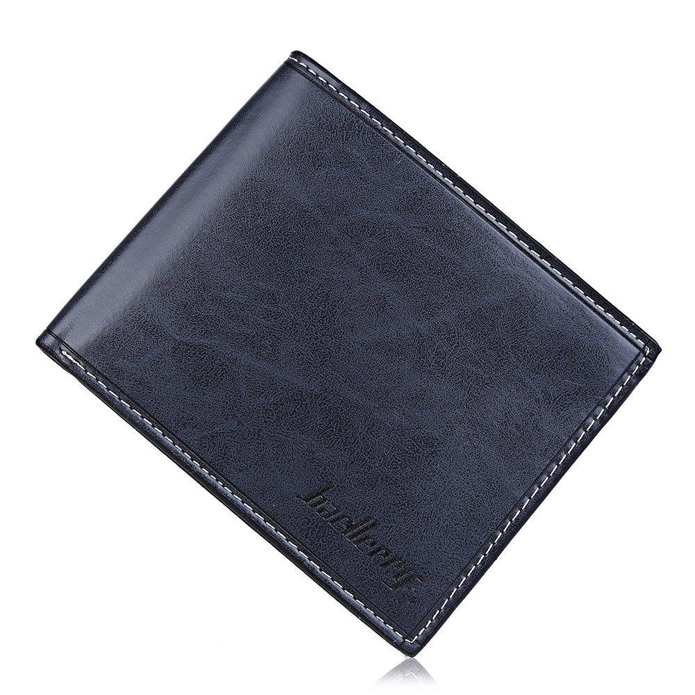 Comfkey Mens Wallet PU Leather Slim Bifold Credit ID Card Holder Slim Wallet