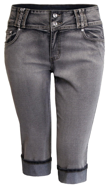 cheap URBAN K Plus Size Women's Denim Capri Jeans ...
