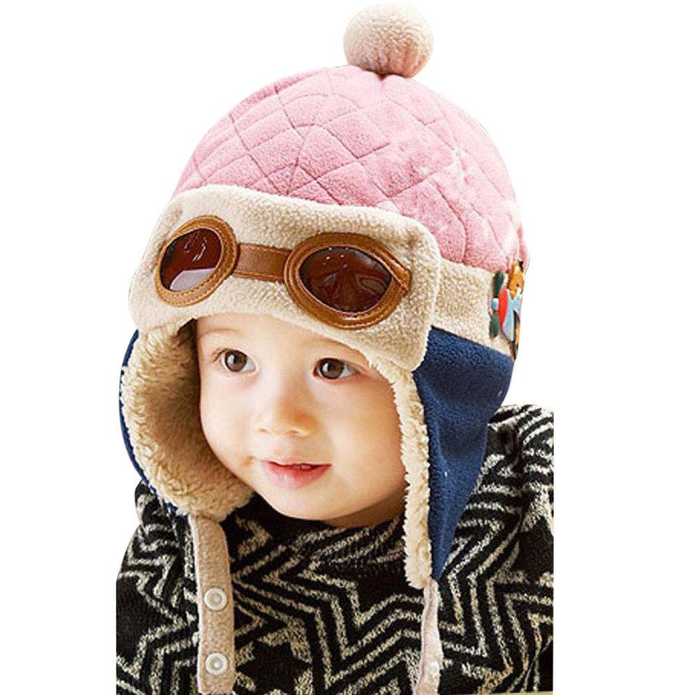 Kinrui Baby Hat & Cap DRESS ユニセックスベビー  ピンク B07HJ82SLX