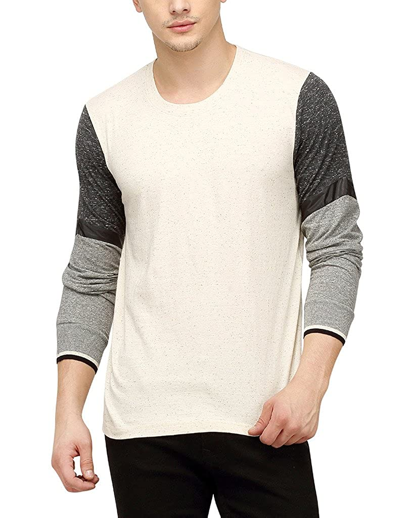 e25ce5846 Campus Sutra Men Round Neck Full Sleeve T-Shirt  Amazon.in  Clothing    Accessories