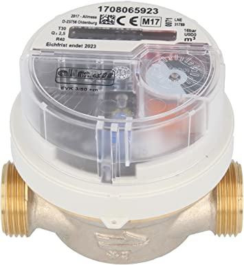 Visto-contador de agua fría Allmess 1.27 cm EVK 3/80 V + M, 1.91 ...