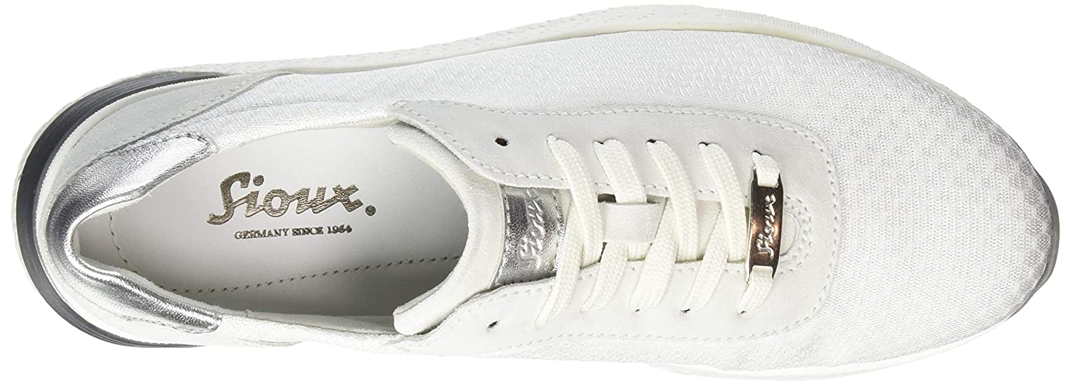 White//Weiss 001 7.5 UK Sioux Womens Natovia-700 Low-Top Sneakers,