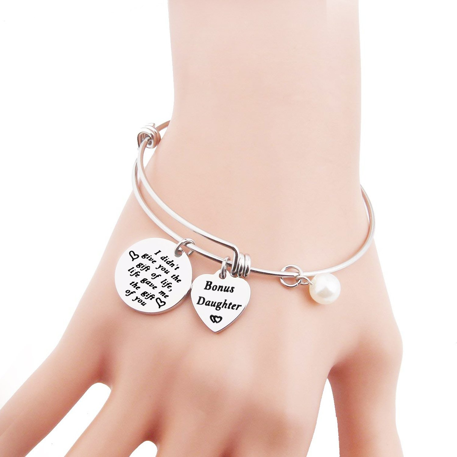 Amazon.com: Stepdaughter Bracelet Daughter In Law Bracelet ...