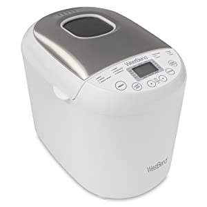 West Bend 47410 Programmable Hi-Rise Bread Maker with 12 Programs Including Gluten Free 2-Pound White