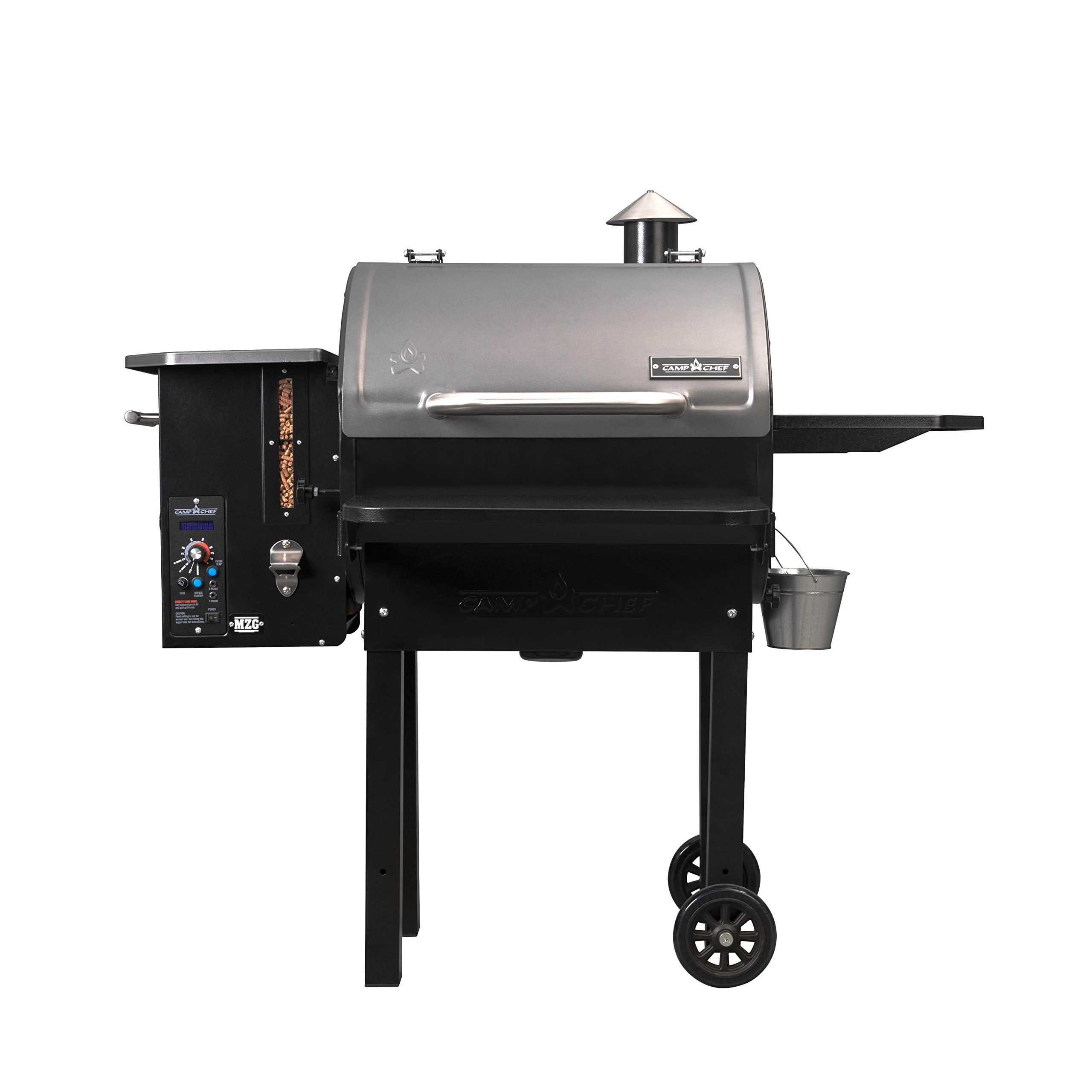 Camp Chef PG24MZG SmokePro Slide Smoker with Fold Down Front Shelf Wood Pellet Grill, Black by Camp Chef