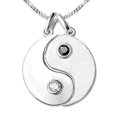 Modeschmuck Yin Yang-anhänger Vergoldet Mit Kette