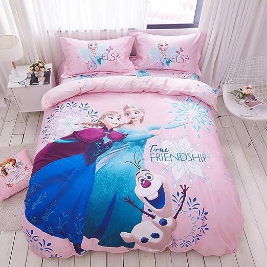 Quilt Cover Single Twin Kids Original Frozen Pink 100/% Cotton Duvet Cover Bedding Pillow Case Sheet