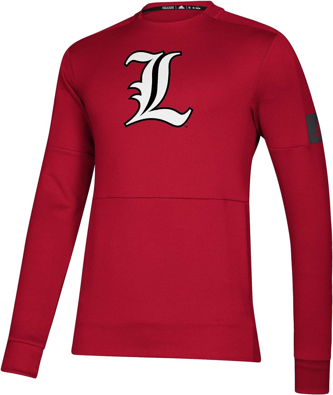 NCAA Louisville Cardinals Mens Locker Room Game Mode Crew Red Large