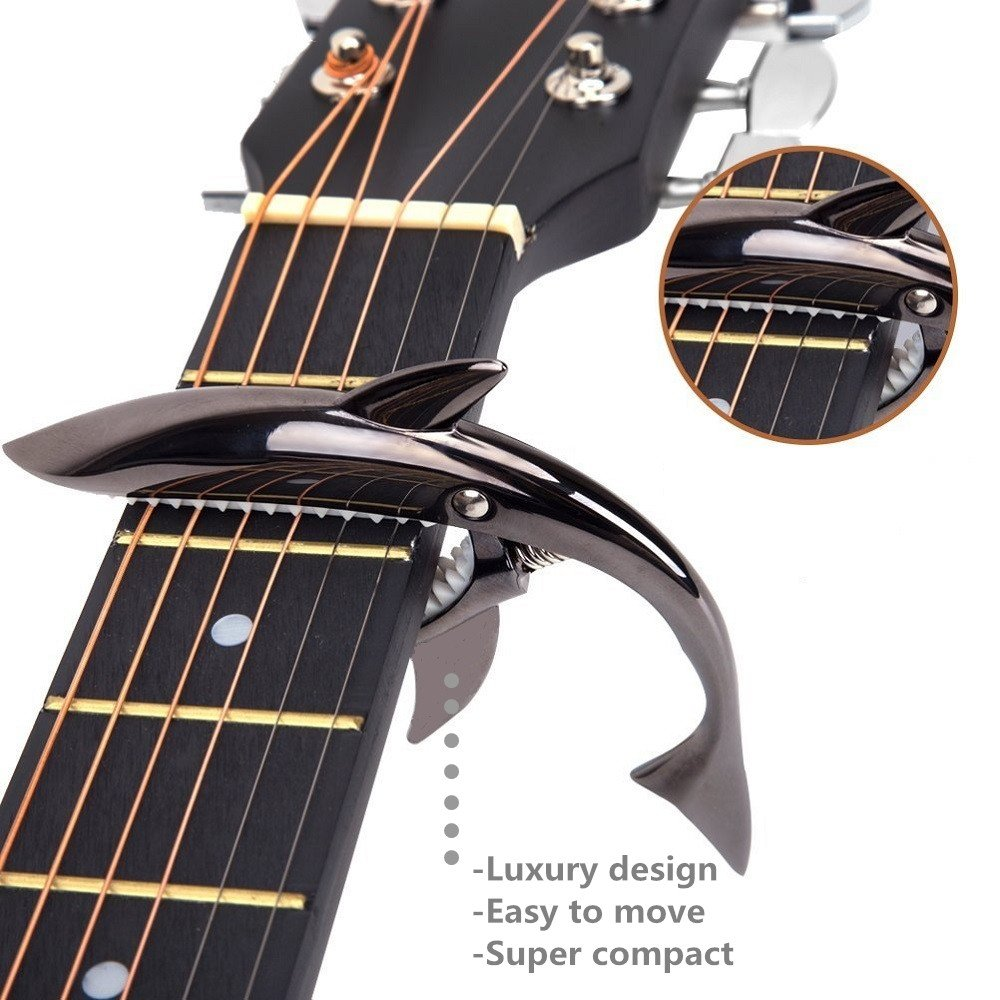 guitar capo shark capo 4 acoustic electric guitar best zinc alloy cool clamp 763230110047 ebay. Black Bedroom Furniture Sets. Home Design Ideas