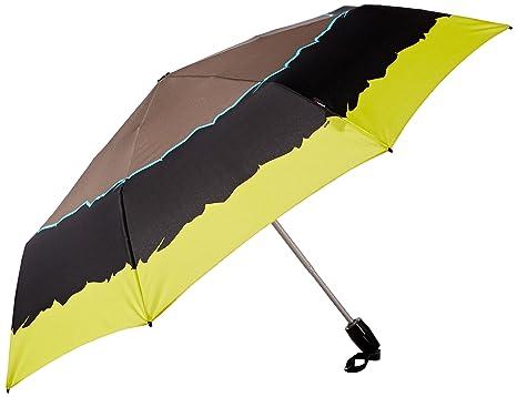 Knirps T2 Duomatic Open/Close Umbrella - Plegable Adulto Unisex, River Citrin (Amarillo