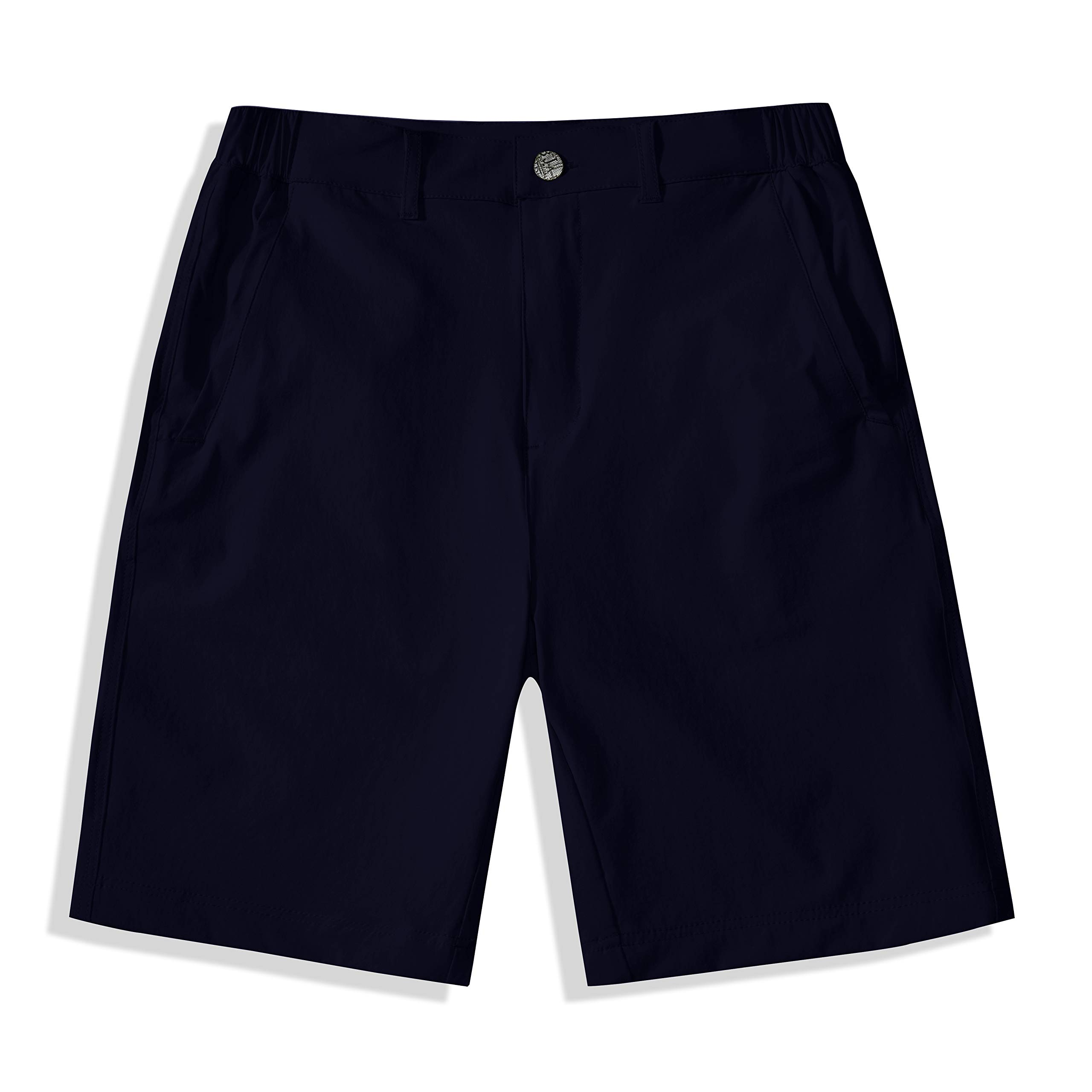 BASADINA Boys Shorts Quick Dry Outdoor Casual Shorts with Moisture Wicking Solid Navy by BASADINA