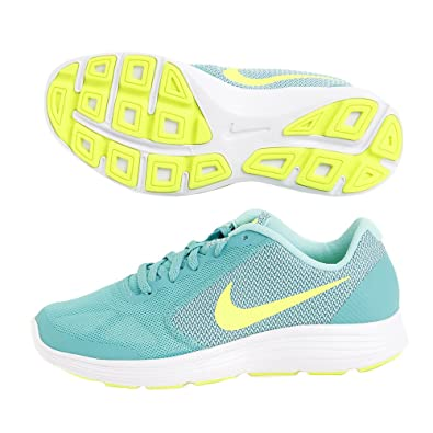 hot sales f2f5b ce82a Nike Revolution 3 (GS), Chaussures de Course Fille, Verde (Clear Jade