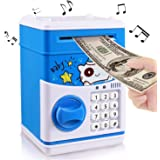 Anpress Huchas Infantiles, Hucha Dinero Bancos Electrónico de Seguridad, Mini ATM Ahorro de Bancos, Caja Electrónico…