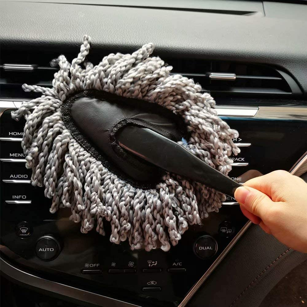 IPELY Super Soft Microfiber Car Dash Duster Brush for Car Cleaning Home Kitchen Computer Cleaning Brush Dusting Tool