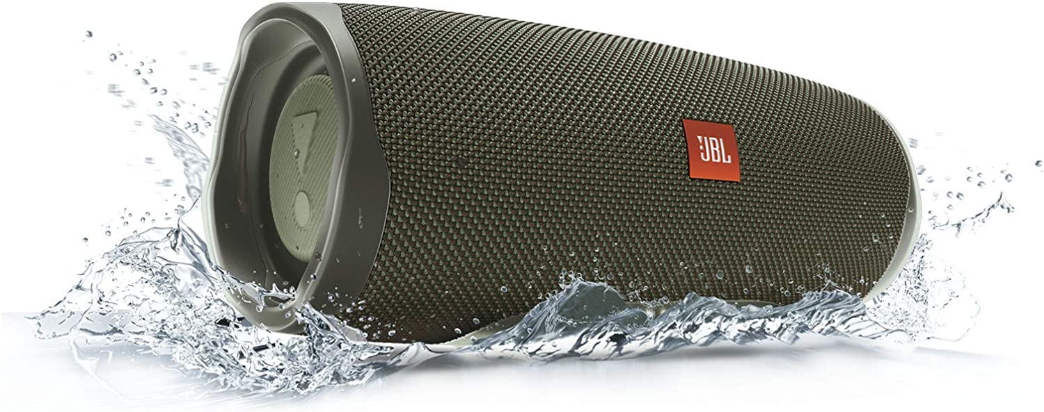 JBL Charge 4 Waterproof Portable Bluetooth Speaker with 20 Hour Battery Black