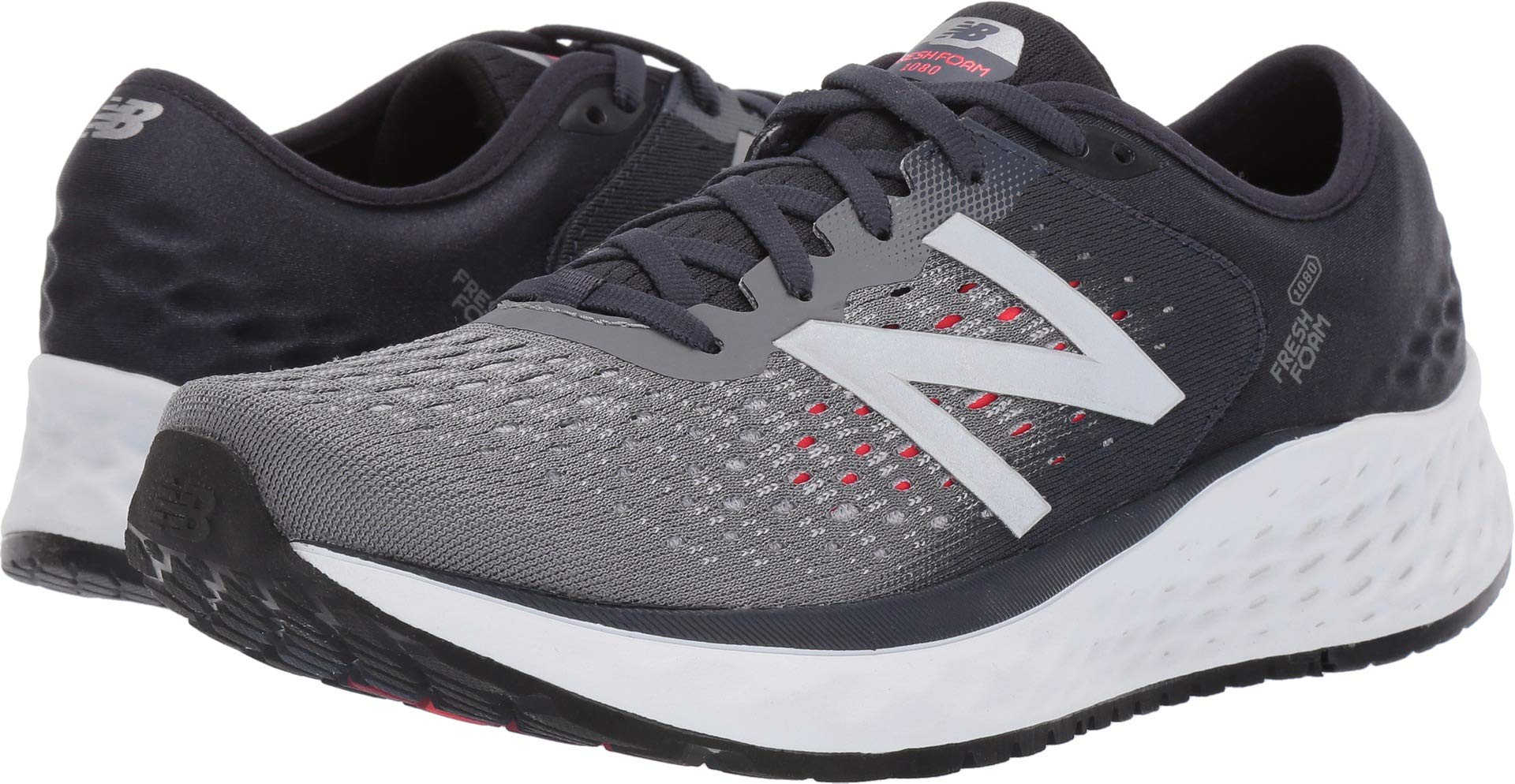 New Balance Men's 1080v9 Fresh Foam Running Shoe, Gunmetal/Outerspace/Energy red, 7 N US by New Balance (Image #1)
