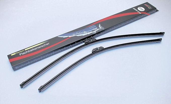 Dakatec 80222639 Flachbalkenwischer Set 550mm 22 Zoll 650mm 26 Zoll Auto