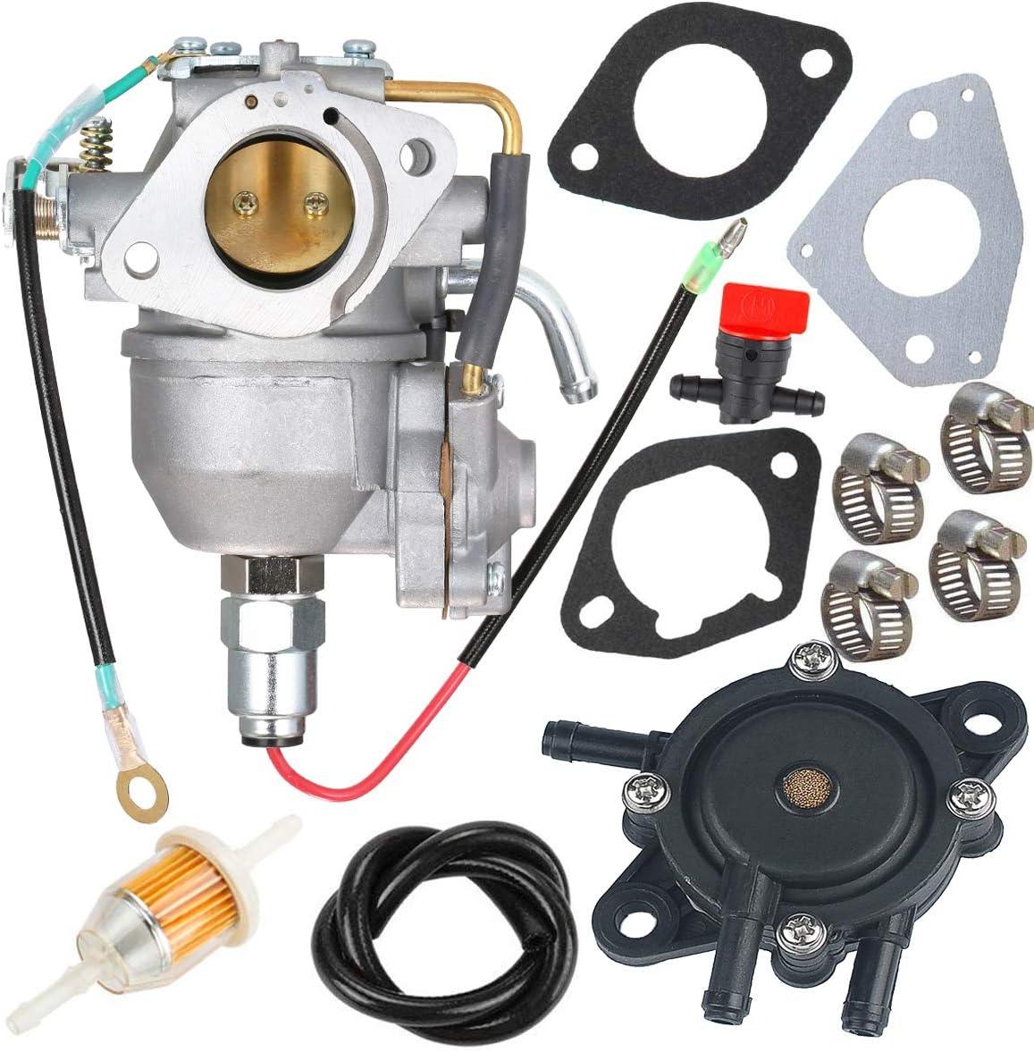 New CV730 Carburetor +Fuel Pump 24 393 04-S 24 393 16-S for Kohler CV730 CV730S CV740 CV740S 25 HP 27 HP Engine 24853102-S 24-853-102-S Carb with Gasket Kit