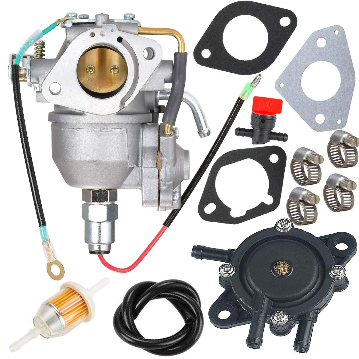 New CV730 Carburetor +Fuel Pump 24 393 04-S 24 393 16-S for Kohler CV730 CV730S CV740 CV740S 25 HP 27 HP Engine 24853102-S 24-853-102-S Carb with Gasket Kit