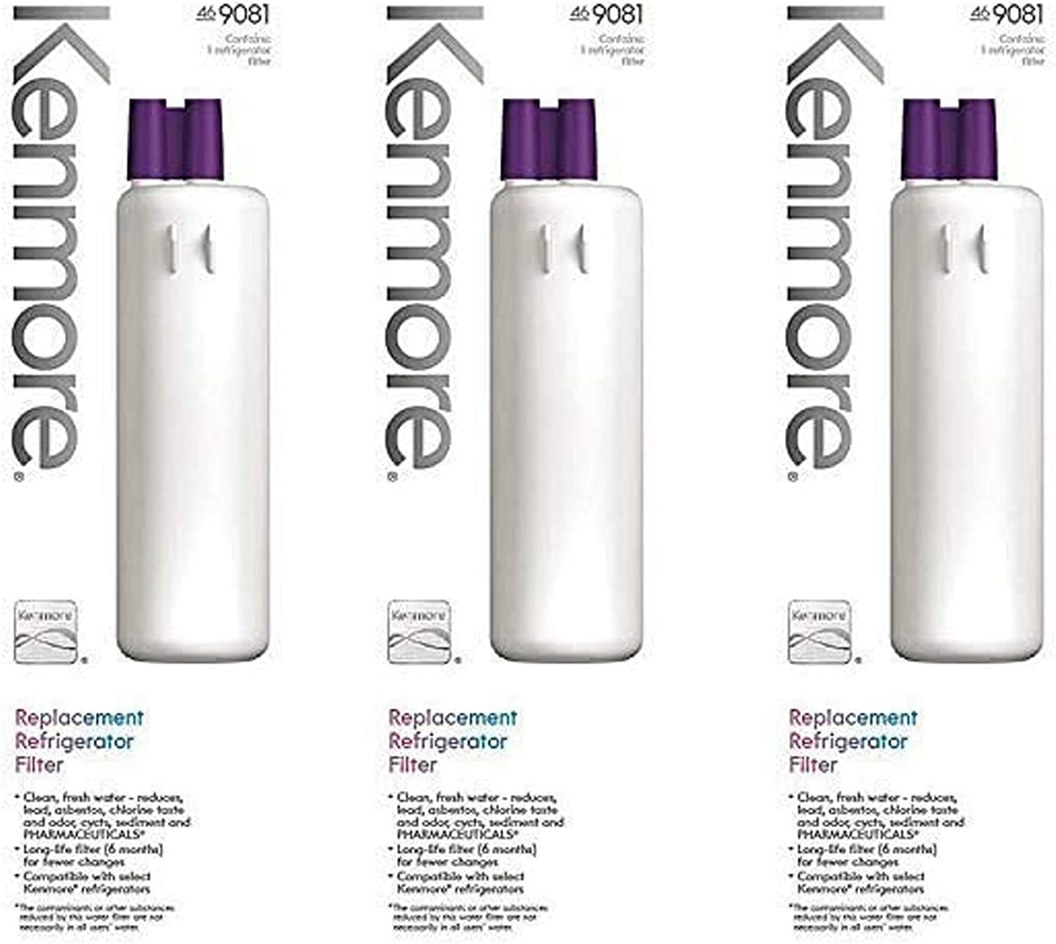 Κеnmore 469081 Replacement Refrigerator Water Filter(3-Pack)