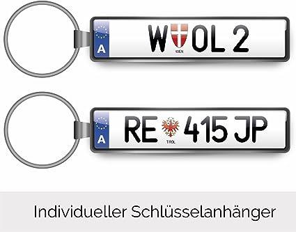 Individueller Schlüsselanhänger Kfz Auto Minikennzeichen Österreich Autoschilder Für Audi Bmw Mercedes Vw Opel Skoda Mazda Ford Porsche Volvo Seat Nissan Renault Auto