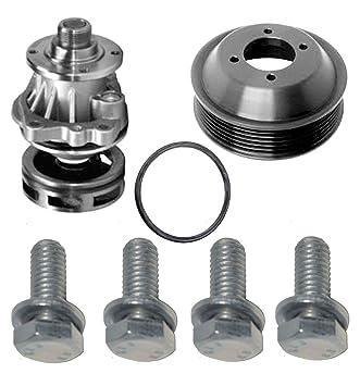 Bomba de agua impulsor Metal + Junta + Polea de aluminio para BMW E46 X5 X3 Z3 Set 7: Amazon.es: Coche y moto