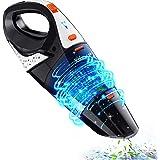 Handheld Vacuum, Hikeren 7Kpa Powerful Suction Wet & Dry Vacuum Cleaner, Handheld Vacuum Cordless with Quick Tech…